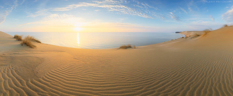 панорама, пейзаж, утро, природа, panorama, landscape, nature, sunrise, morning, Валерий Притченко