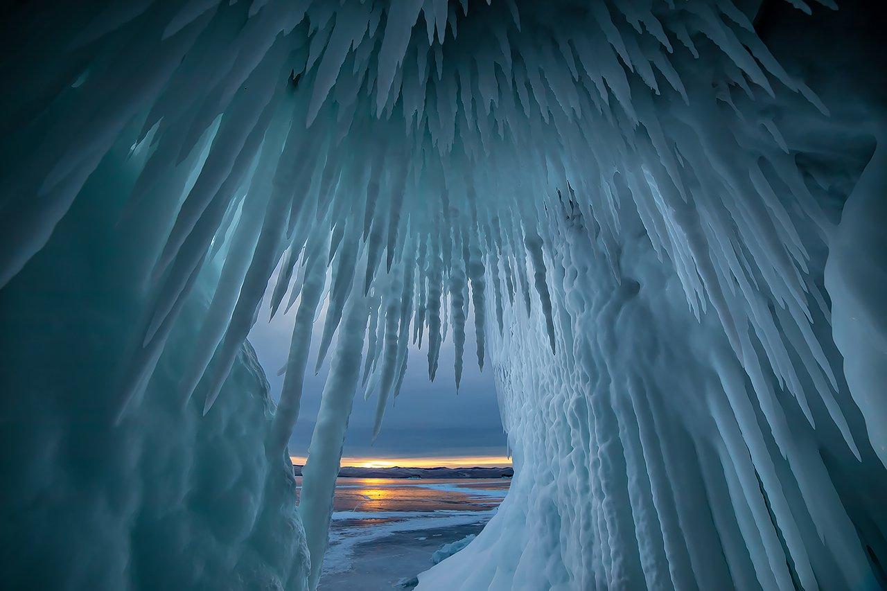 лед, байкал, ольхон, пейзаж, зима, рассвет, закат, Ипполитов Александр