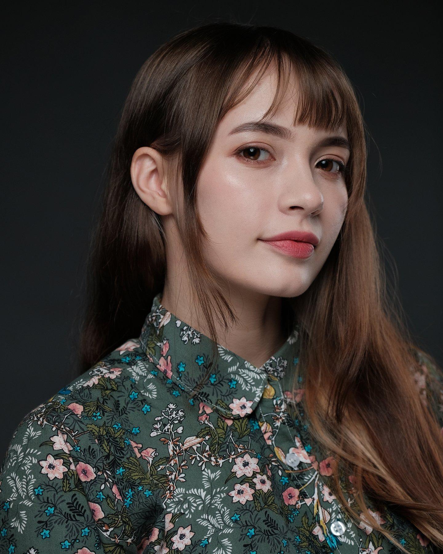 портрет домашняя студия свет вспышка отражатель блузка девушка лицо волосы, alexey_poley