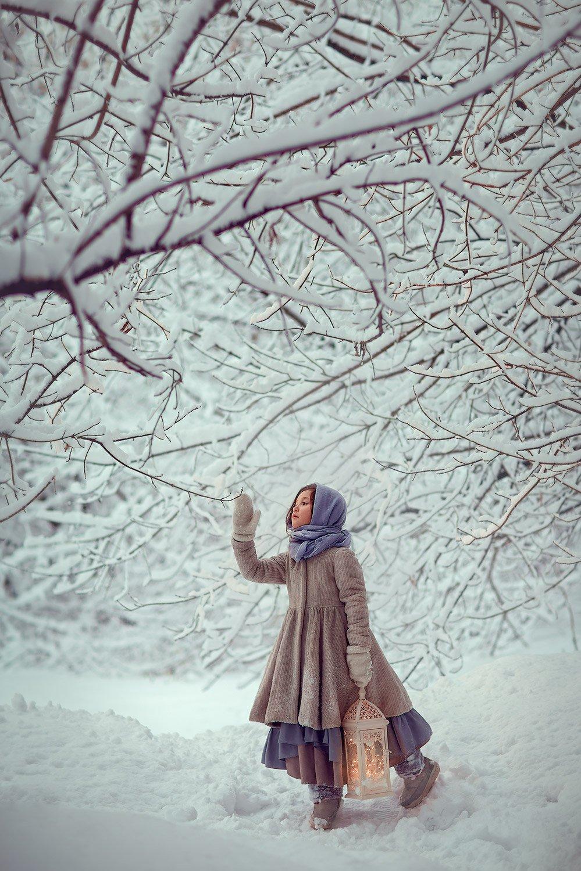 девочка, зимняя фотосессия, зима, лес, фотосессия на природе, детский фотограф, Катрин Белоцерковская