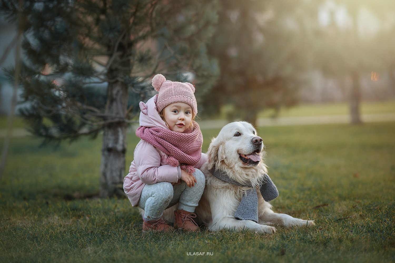 портрет, зима, winter, дети, прогулка, фотосессия на природе, девочка, girl, животное, собака, ретривер, dog, фото дети, детские фотографии, радость, малыш, ребенок, друзья, happy, фотопрогулка, любовь, love, happiness, сказка, волшебство, Юлия Сафо