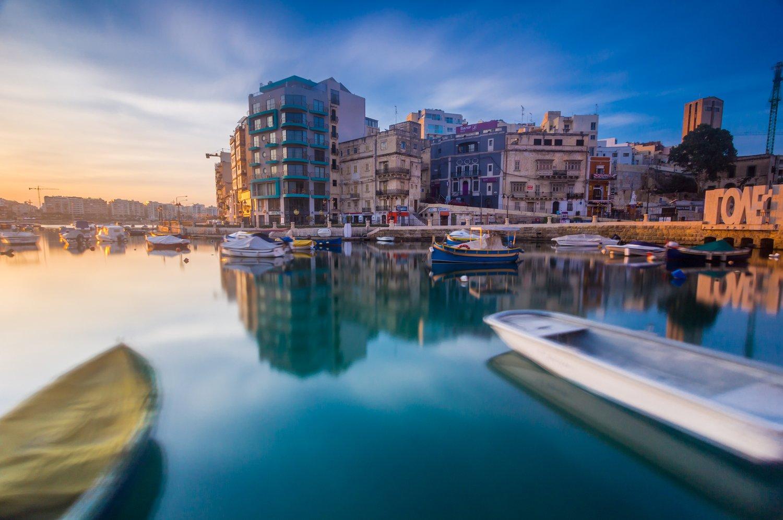 water, Malta, city, architecture, long exposure, travel, boats, sky, Nikolay