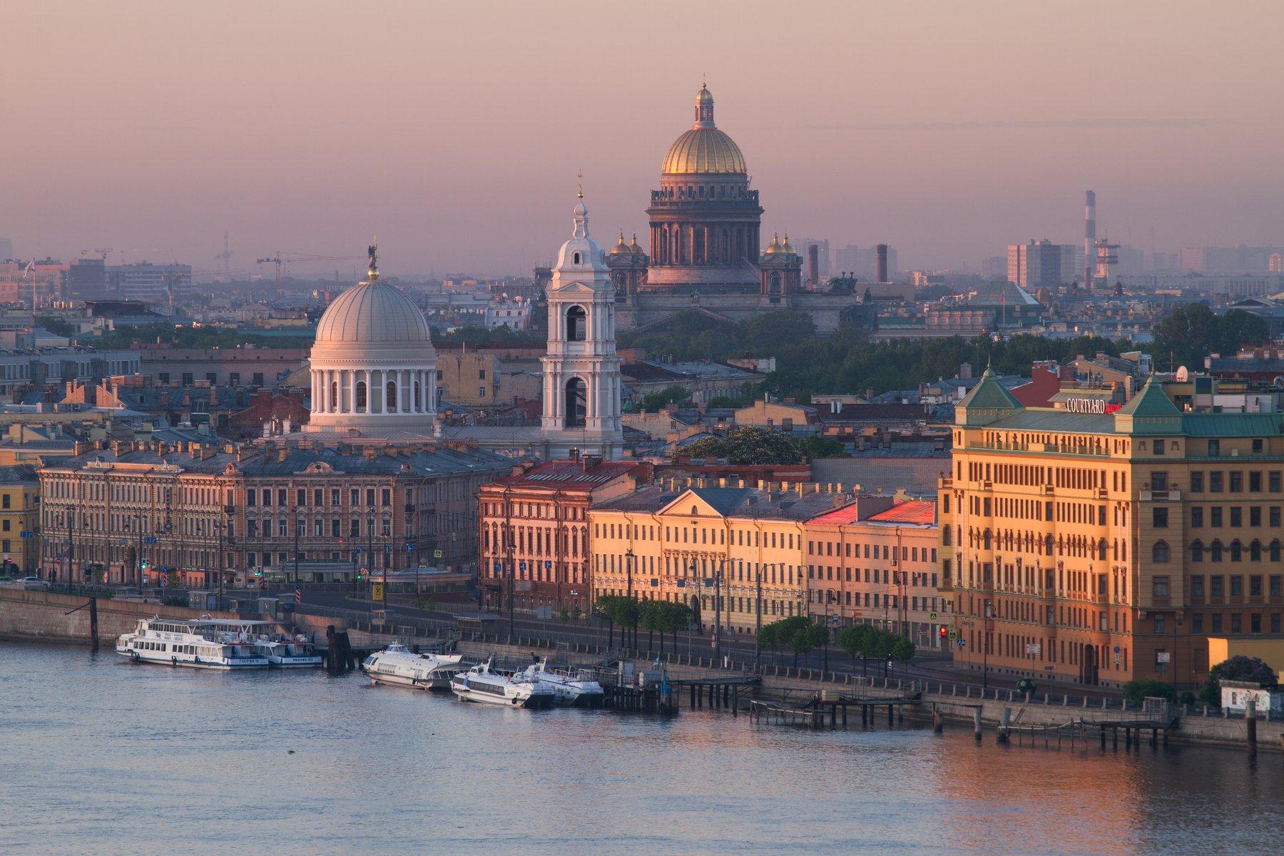 россия, санкт-петербург, рассвет, городской пейзаж, Креймер Мария