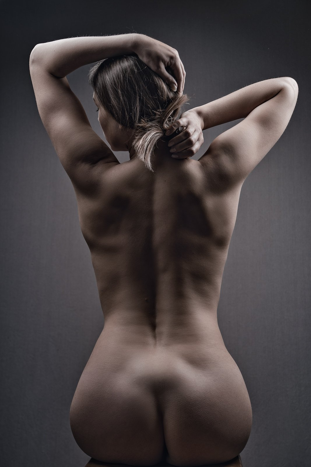 female, portrait, mood, sensuality, dramatic, woman, dark, adult, nude, naked, people, one, person, back, motion, picture, tenderness, dream, butt, sexy, Дмитрий Толоконов