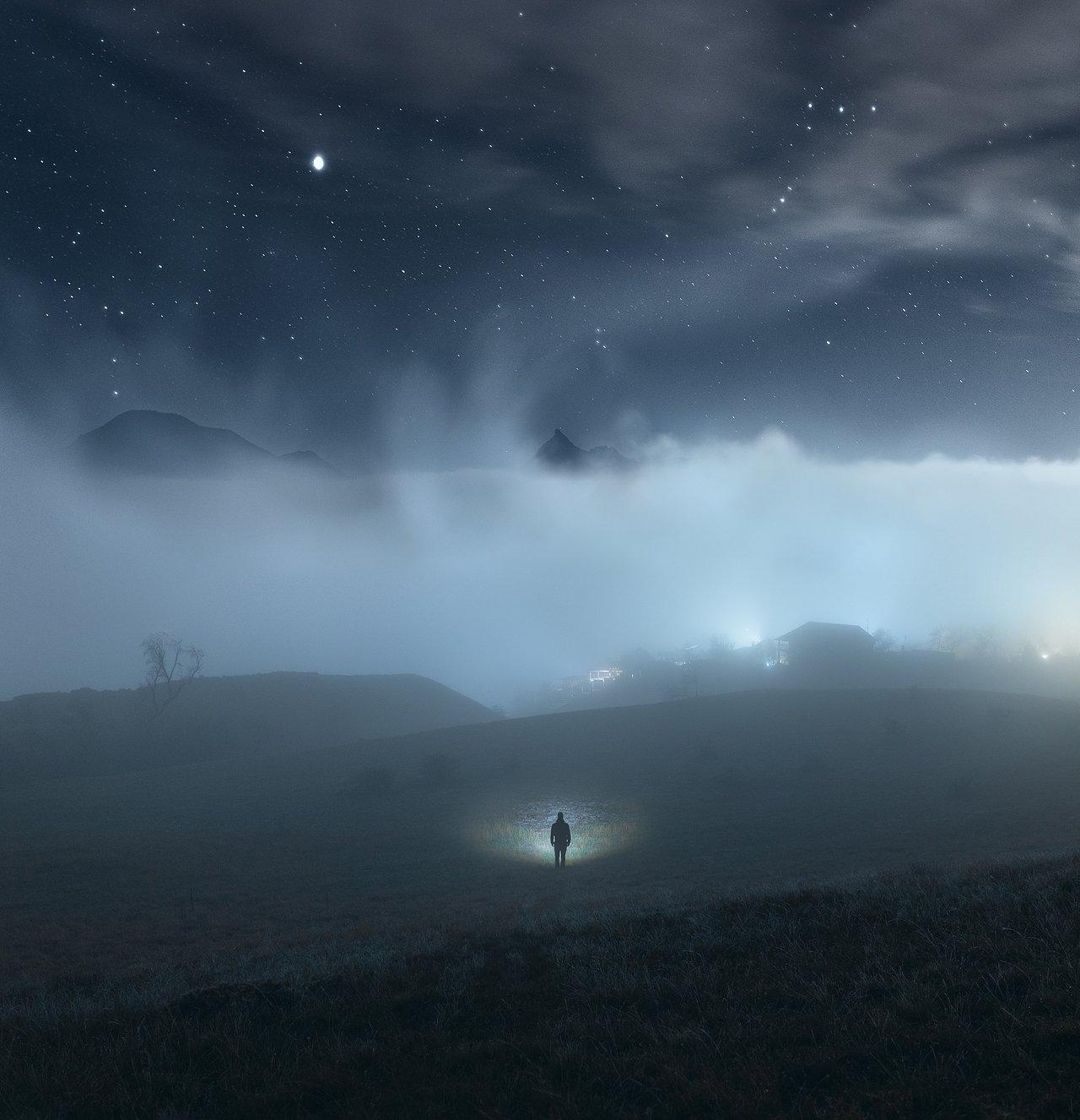 крым, коктебель, карадаг, феодосия, ночной пейзаж, Александр Трашин
