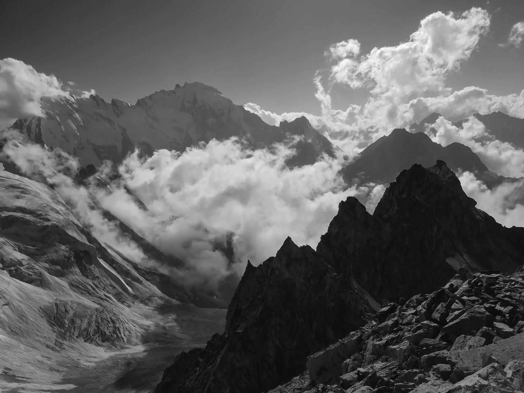 горы,альпинизм, облака, Эстелла