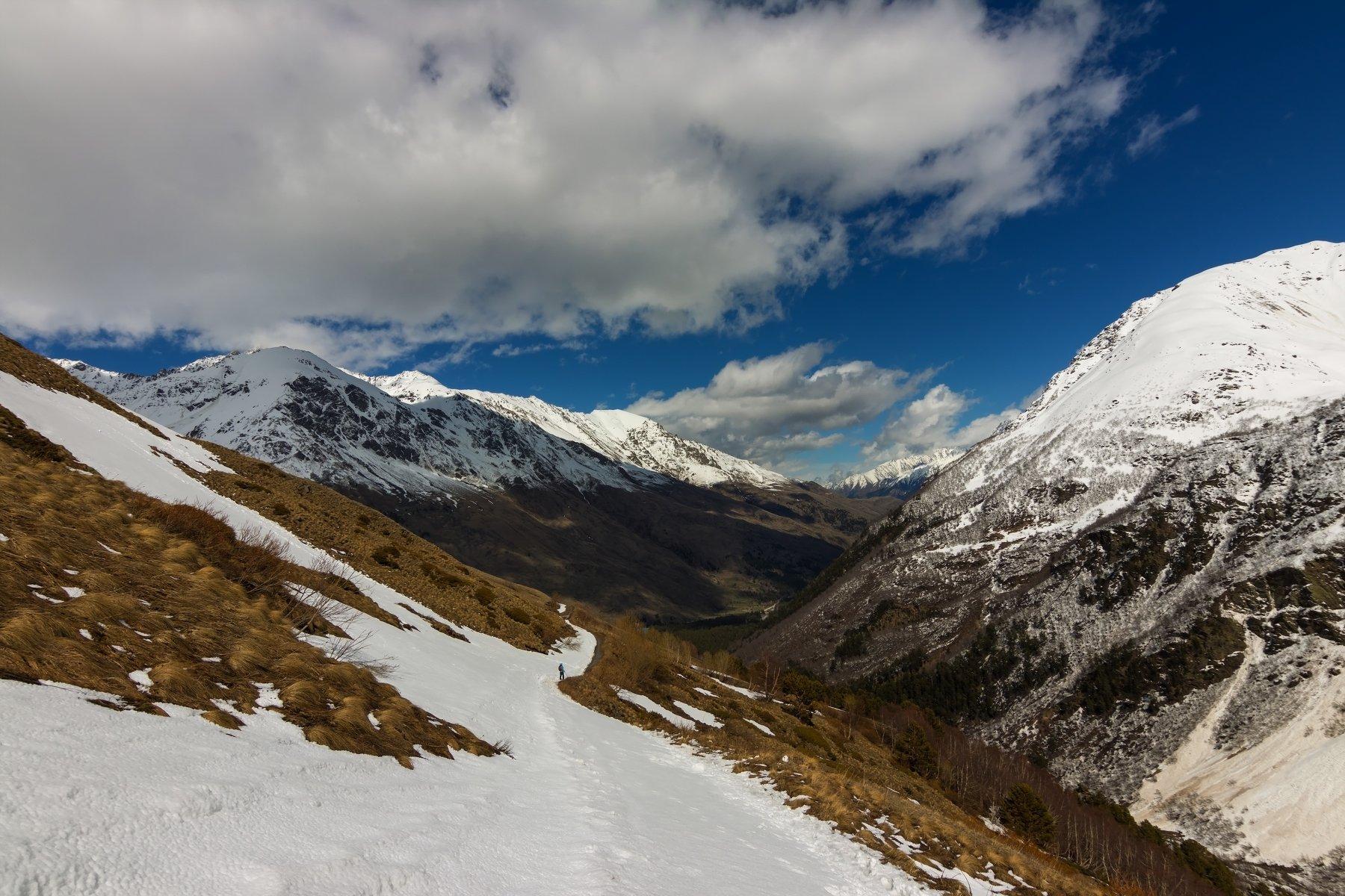 горы, облака, кавказ, восхождение, Эстелла