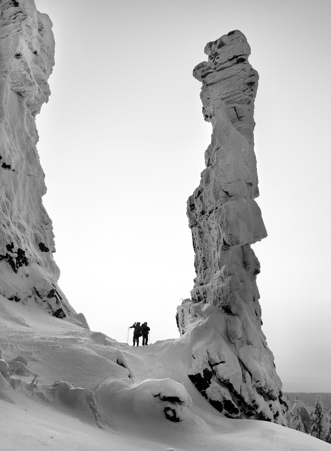урал, зима, скалы, колчимский камень, Бродяга с севера