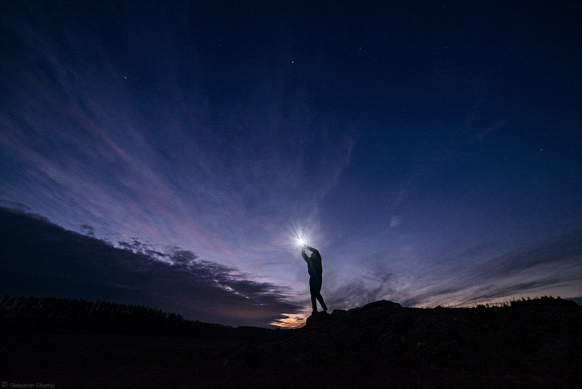 волшебство,гармония, доброта,жизнь,звезда, искренность,ночь,один, одинокий,пейзаж,природа, силуэт,сумерки,счастье, тишина,украина,человек, коростышев,честность, Александр Чорный