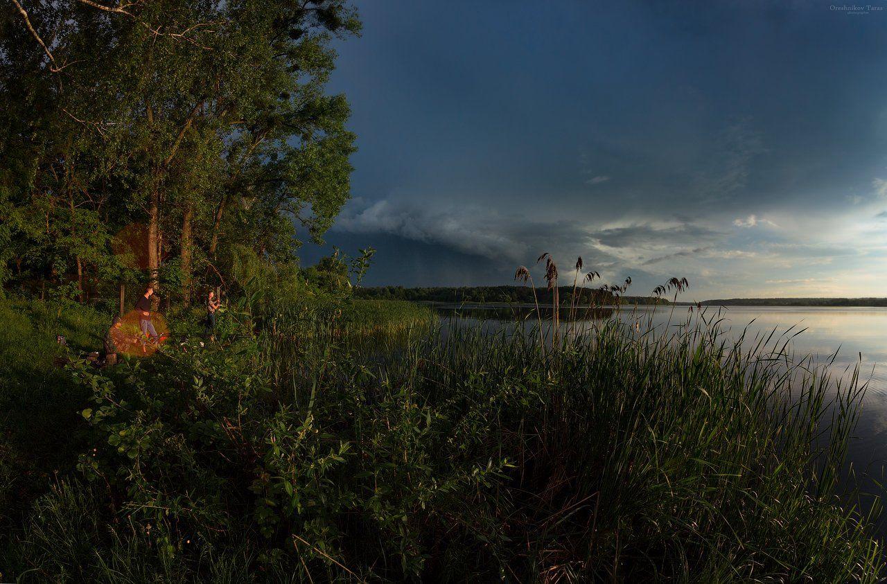 пейзаж,природа,весна,закат,гроза,небо,рыбалка,река,туча,, Taras