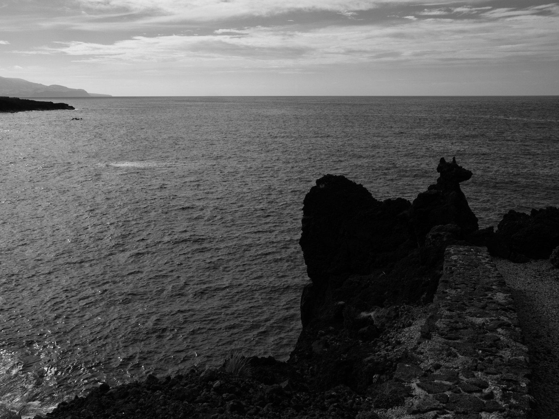 Azores, Black and white, Monochrome, Portugal, Atlantic ocean, Elena Beregatnova