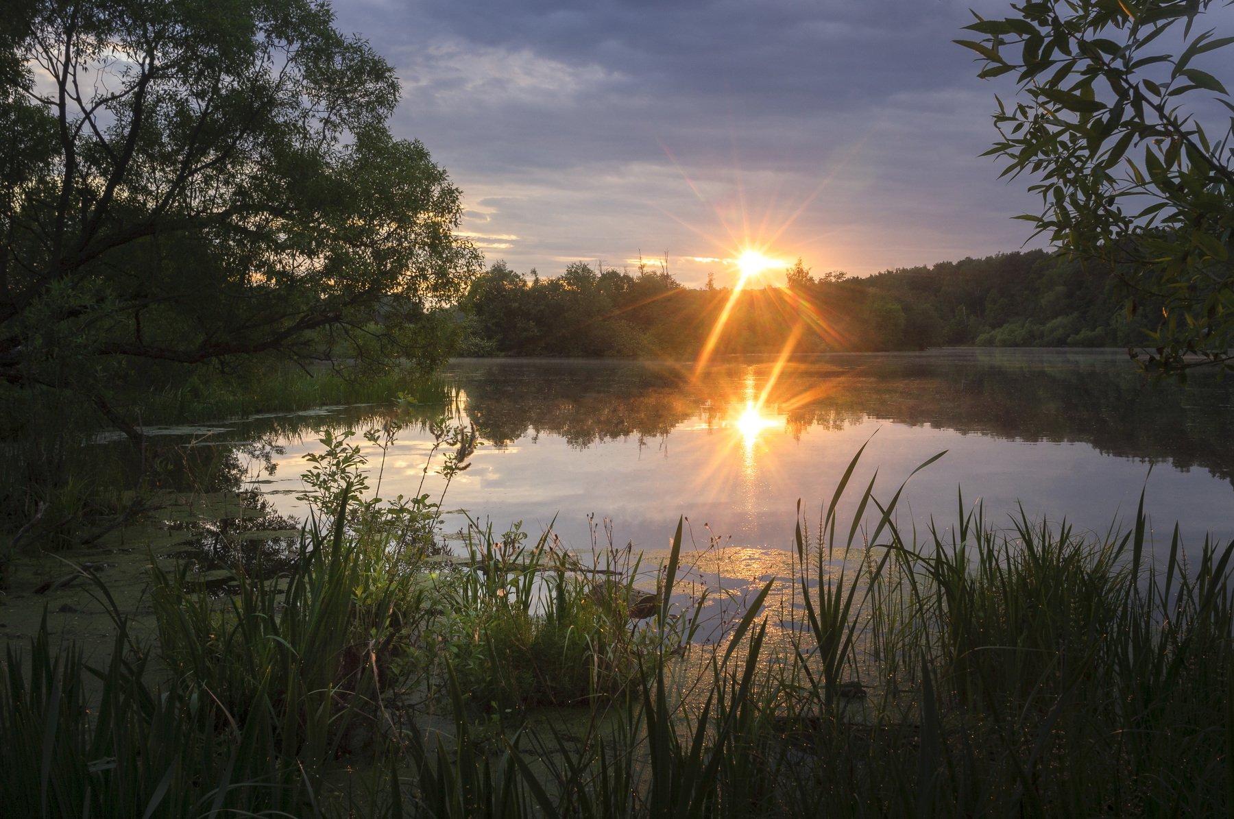 утро, рассвет, пейзаж, московская область, Кыров Александр
