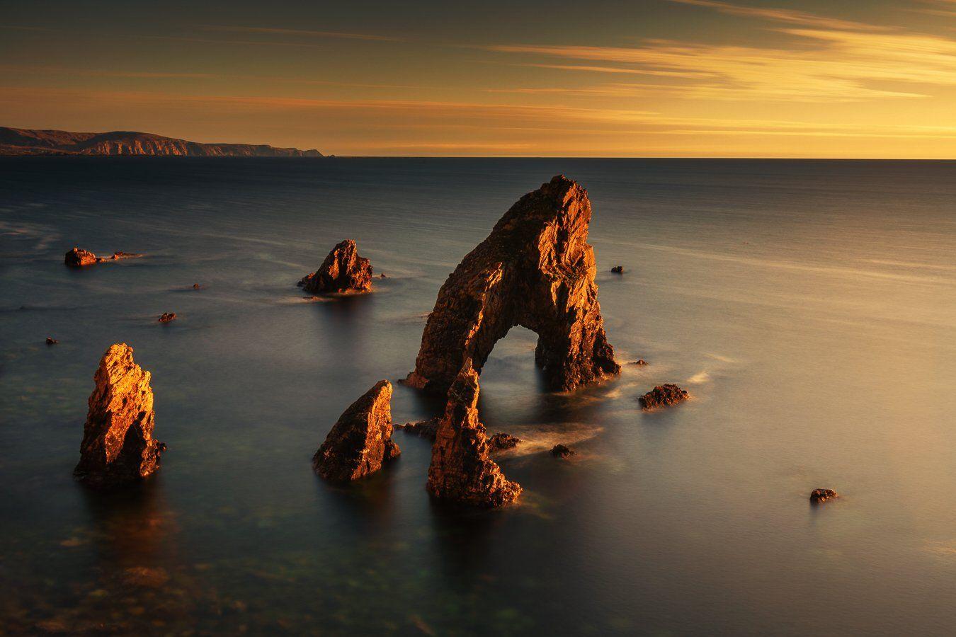 ireland,arch,sunset,donegal, Marek Biegalski