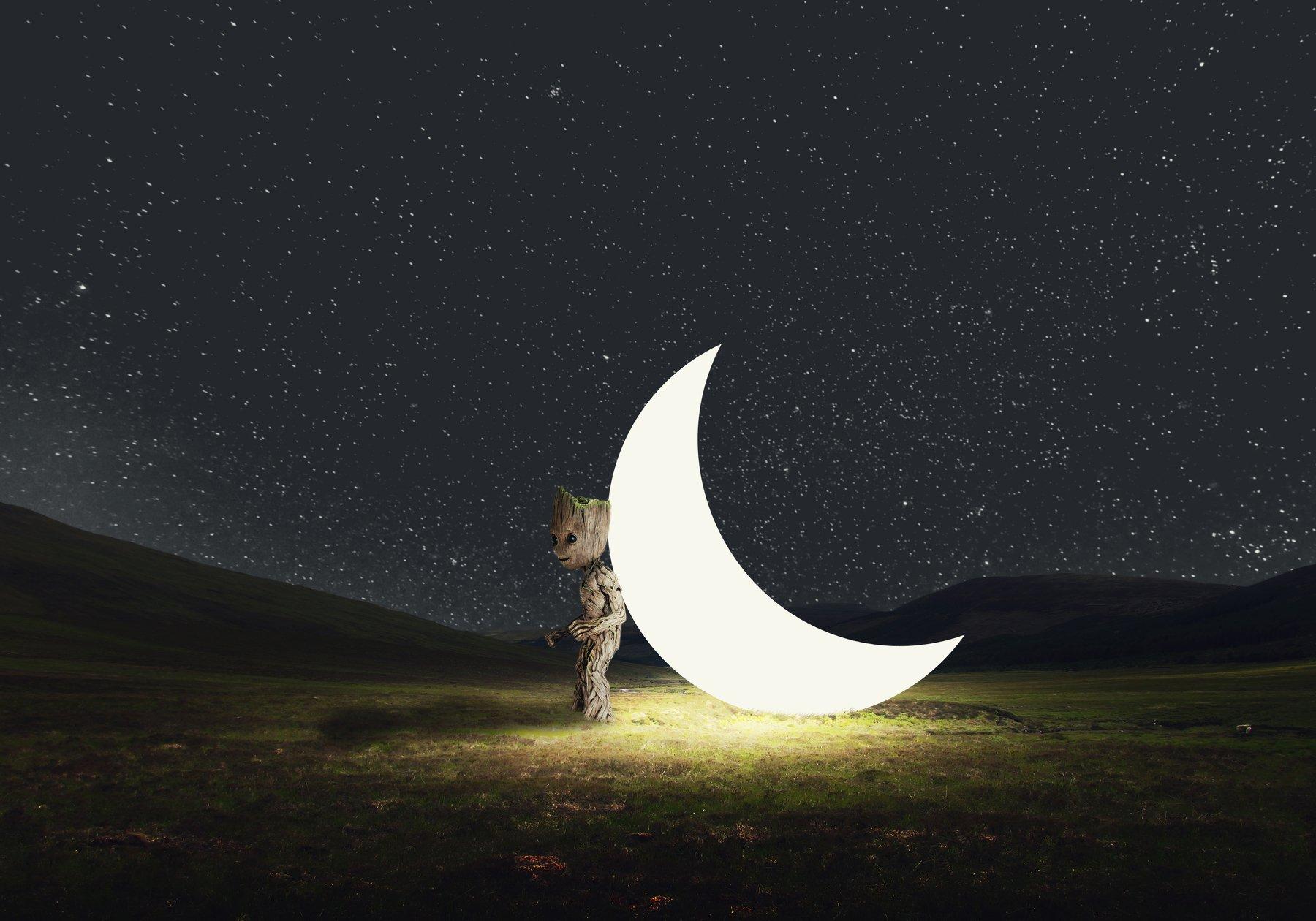 поле, звезды, месяц,, Sergii Vidov
