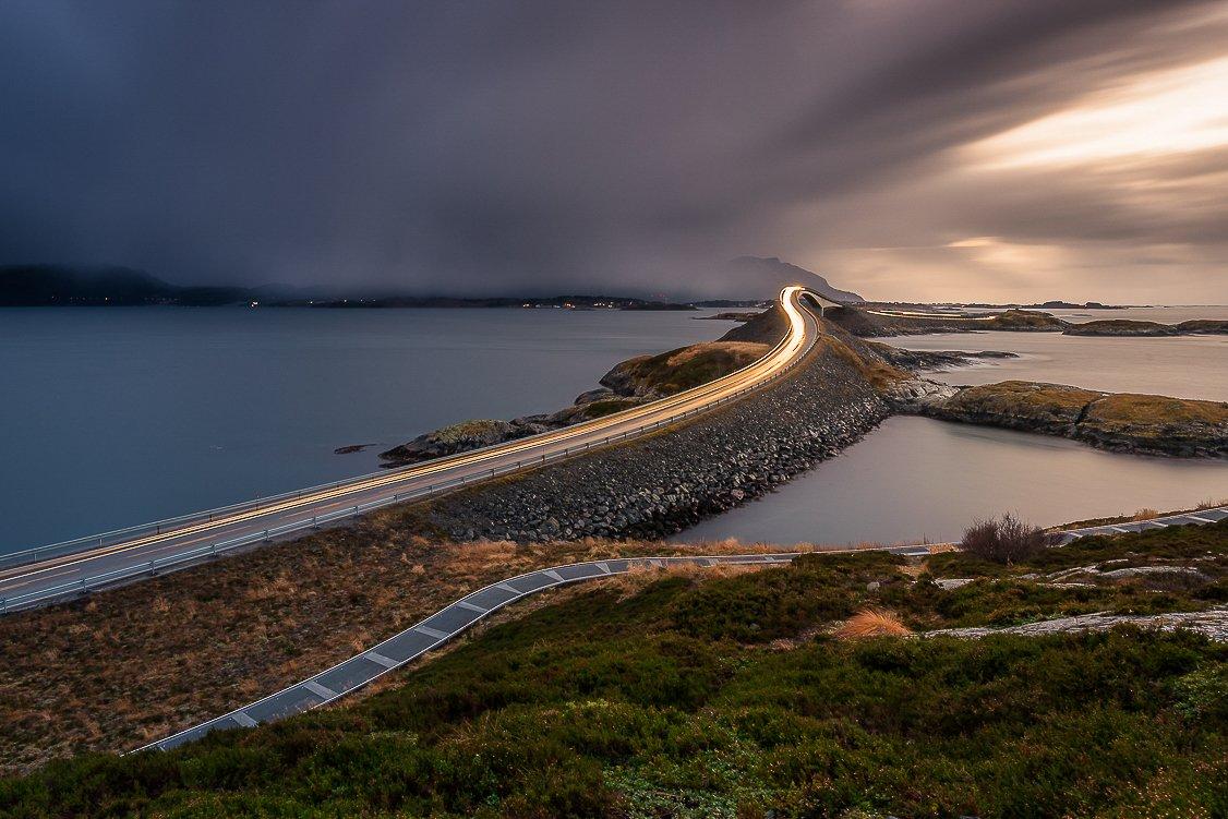 norway,atlanticroad,longexposure,mood,road,light, Tomek Orylski