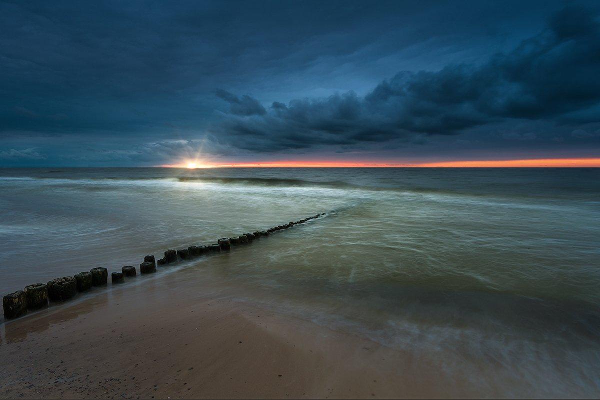 baltic,sea,sunset,beach,poland, Tomek Orylski