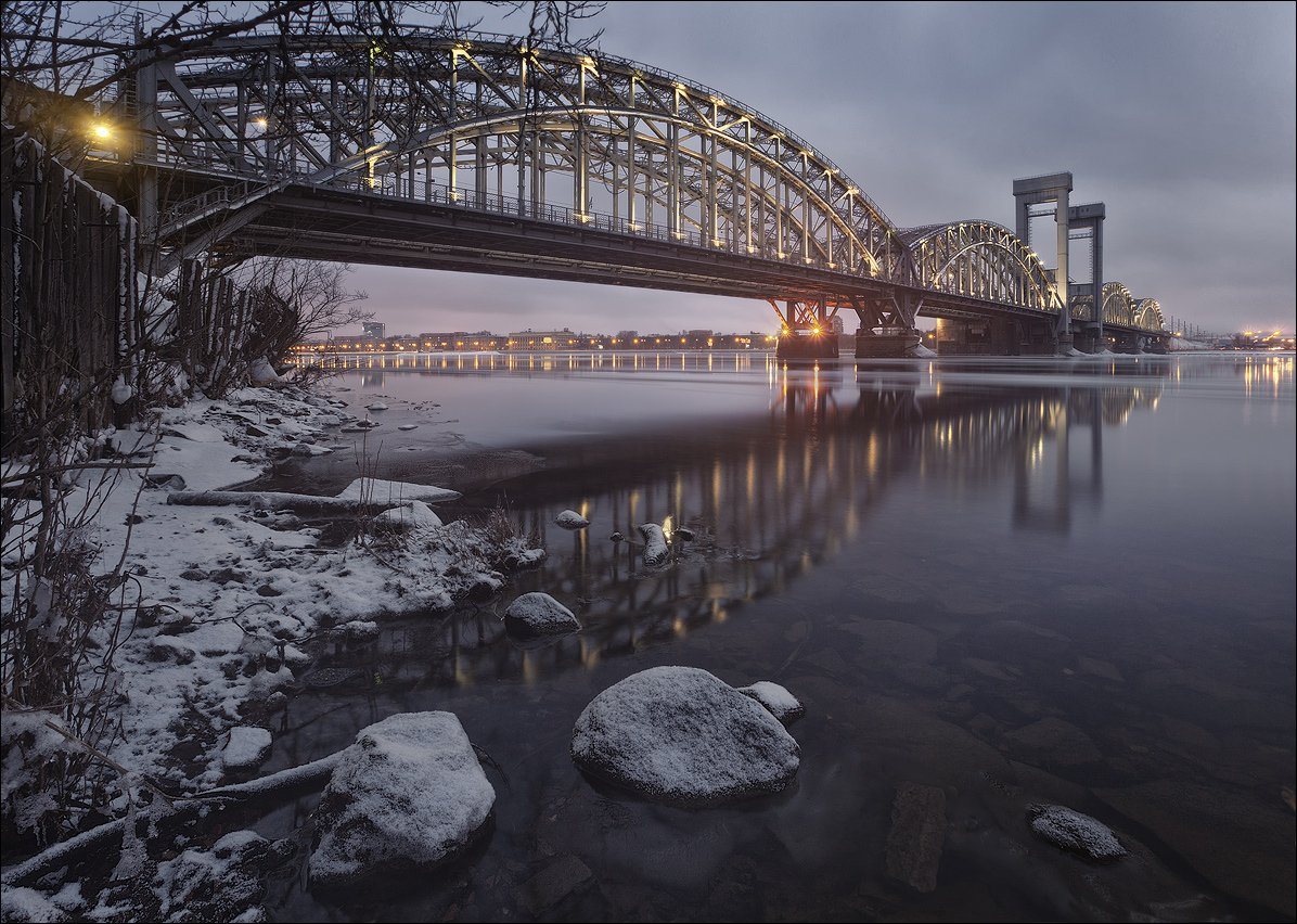 санкт-петербург, финляндский, железнодорожный, мост, нева, ледоход, EGRA : ЕГРА