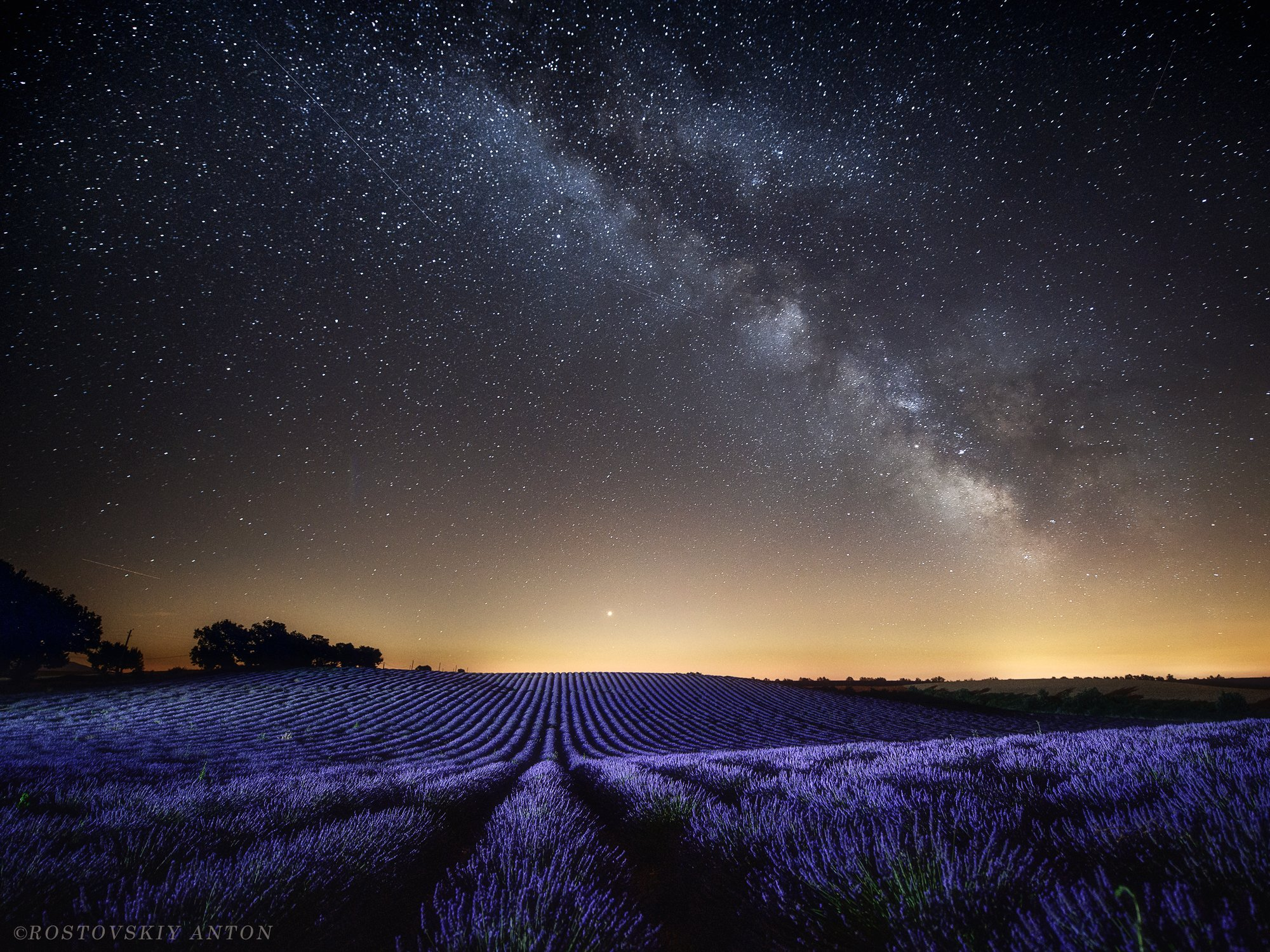 Ночь, Млечный путь, звёзды, поле, Прованс, лаванда, фототур, фотопутешествие,, Ростовский Антон