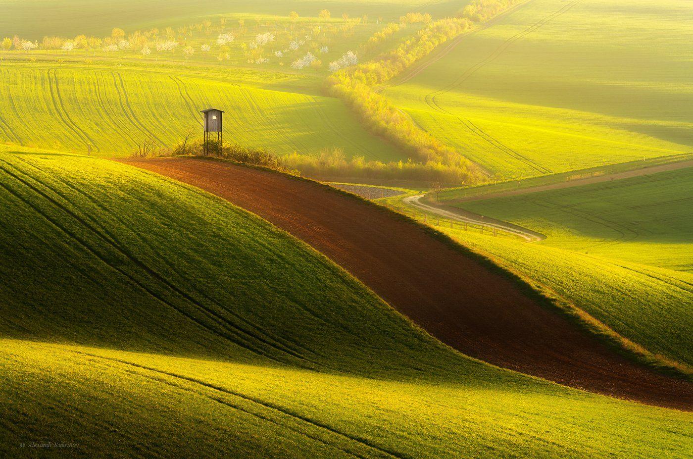 моравия, рассвет, пейзаж, Александр Кукринов