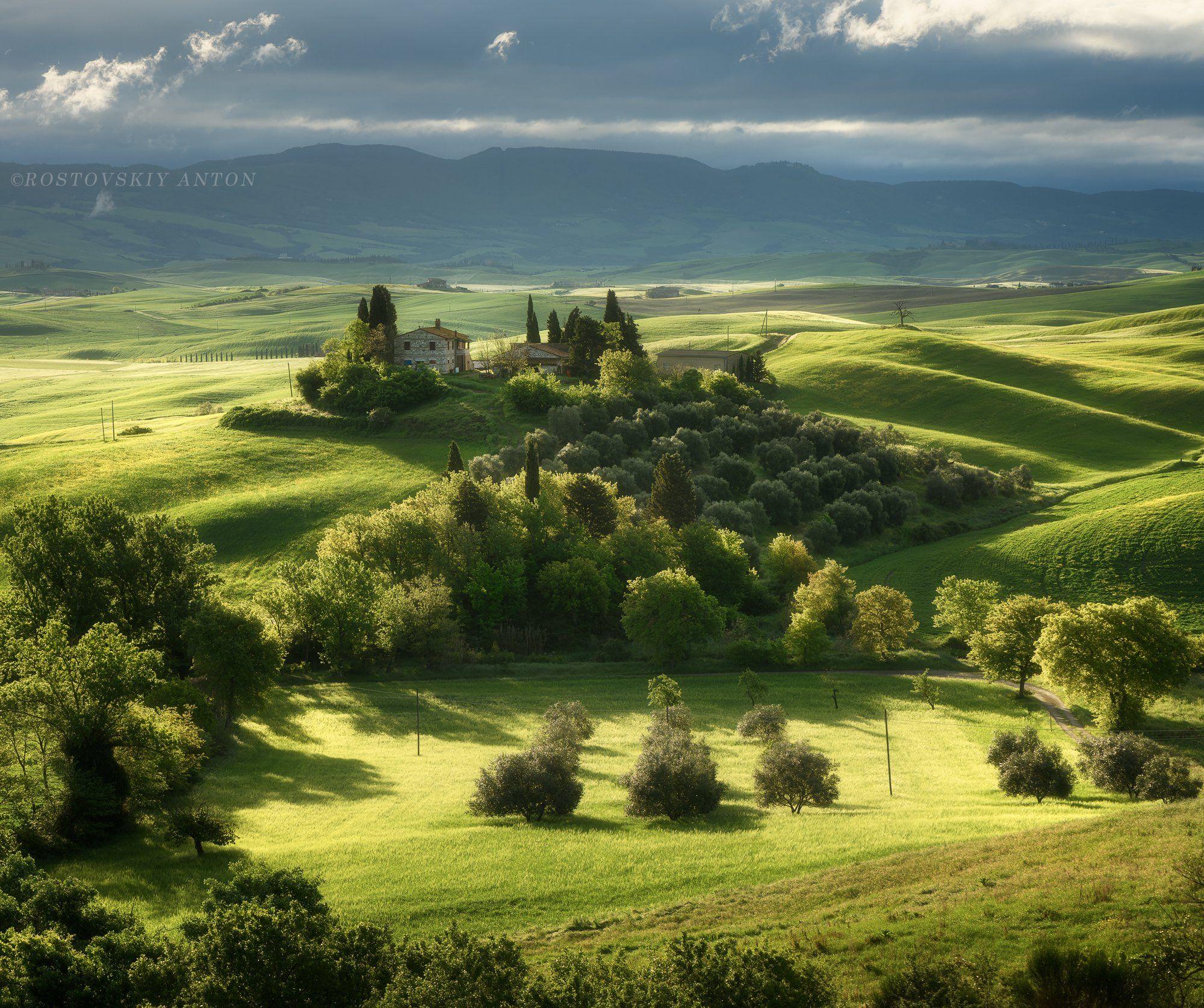 tuscany, morning, sunrise, фототур, Тоскана, Италия, утро,, Ростовский Антон