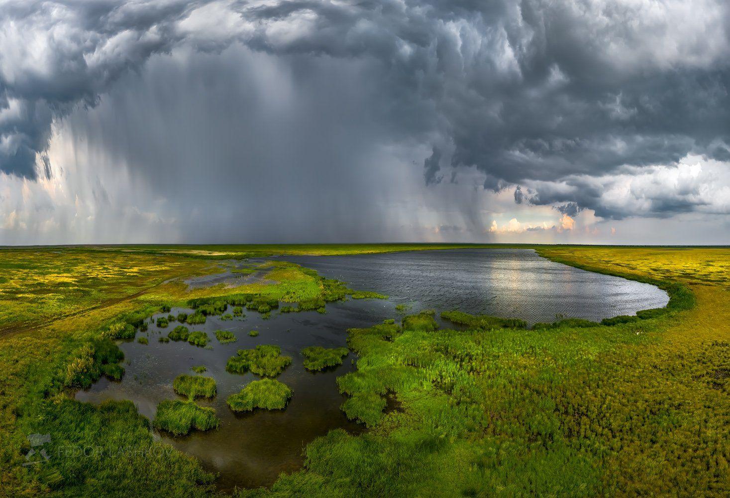 Ставропольский край, путешествие, Mavic, квадрокоптер, аэросъёмка, полёт, озеро, болото, Бурукшинский, заказник, тучи, облака, небо, гроза, фронт, ливень, дождь, непогода, тростник, , Лашков Фёдор