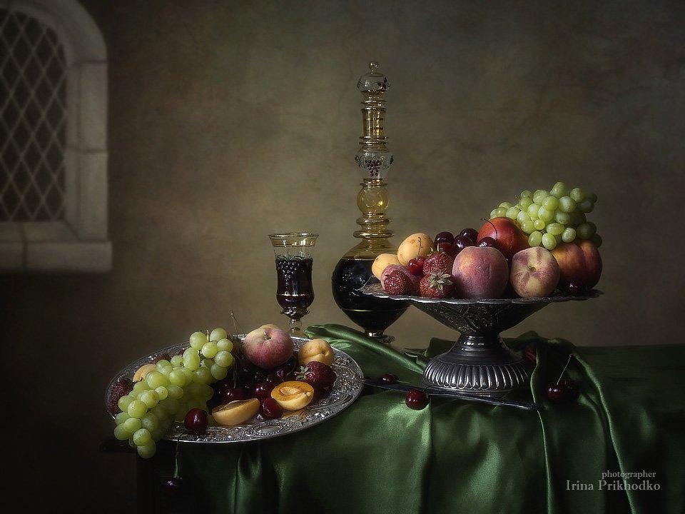 Натюрморт с фруктами в стиле ретро Ирина Приходько