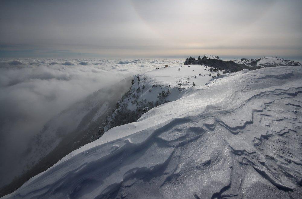 ай-петри, зима, крым, облака, снег, февраль, Петриченко Валерий