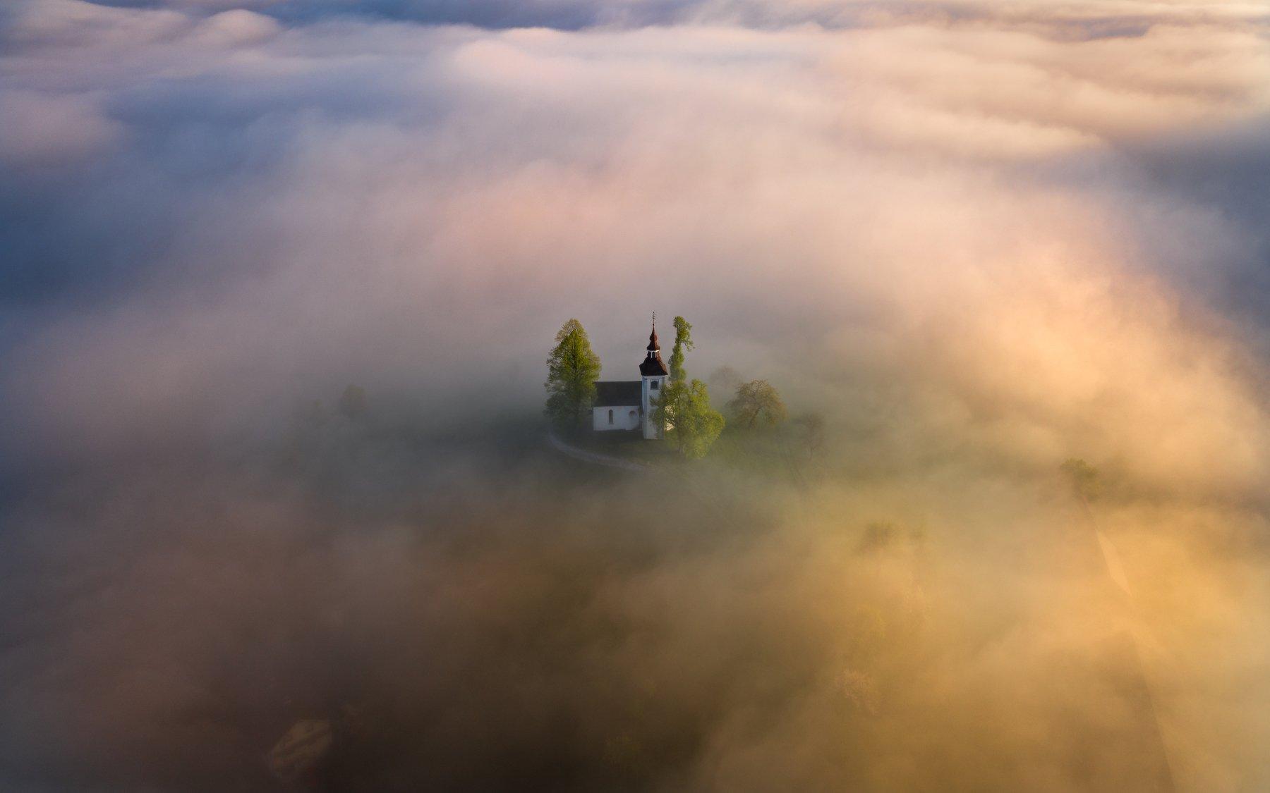 slovenia, alps, dusk, morning, landscape, словения, альпы, утро, пейзаж, Дмитрий Иванов