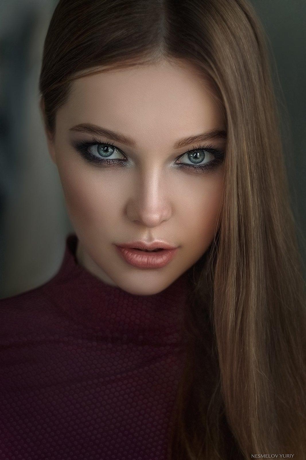 portrait, girl, art, model, девушка, портрет, Несмелов Юрий