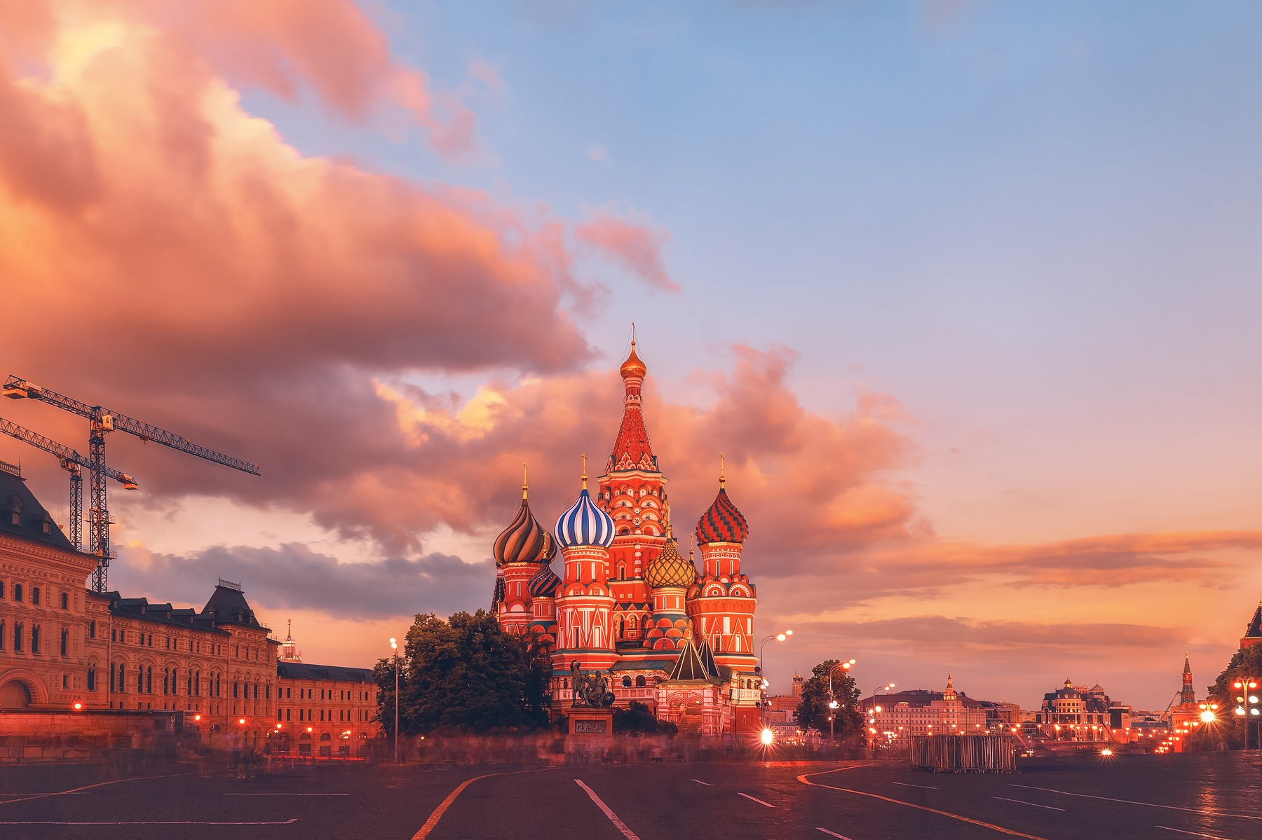 красная площадь, москва, россия, город, закат, небо, Мазурева Анастасия