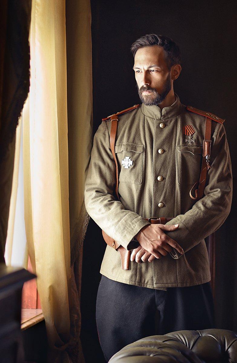 портрет, мужской портрет, исторический костюм. реконструкция, мундир, военная форма, мужчина, царь, история, Прядко Наталья