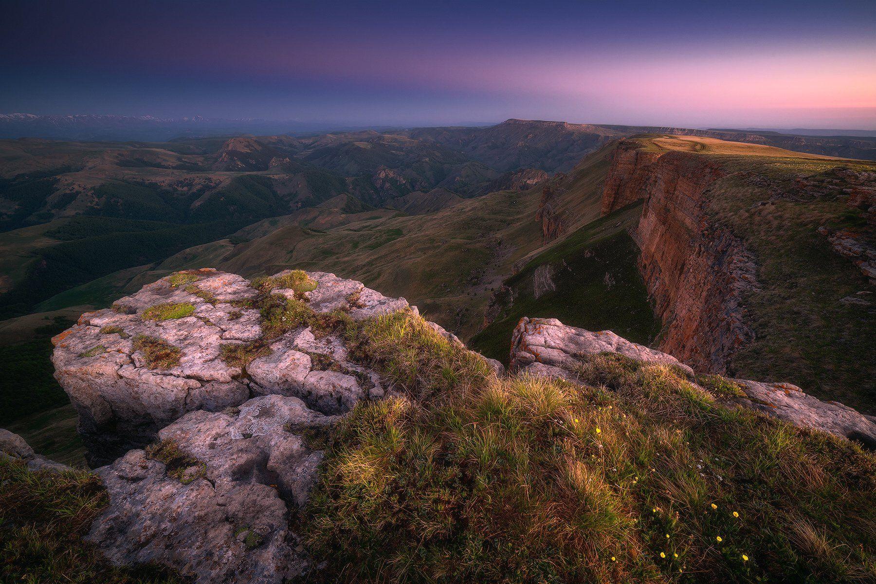 бермамыт, плато, карачаево-черкесия, горы, пейзаж, рассвет, Leschinskaya Tania
