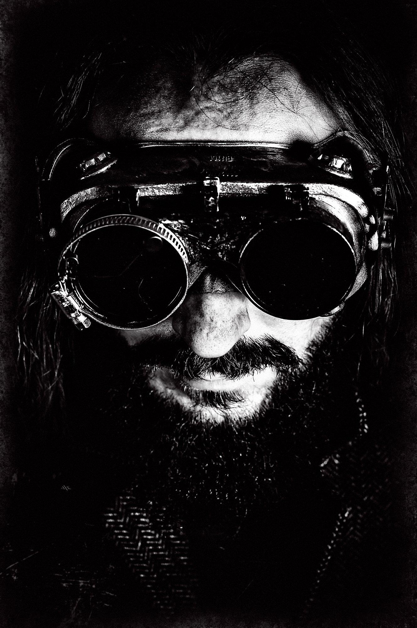 man, portrait, art, conceptual, black and white, studio, Руслан Болгов (Axe)