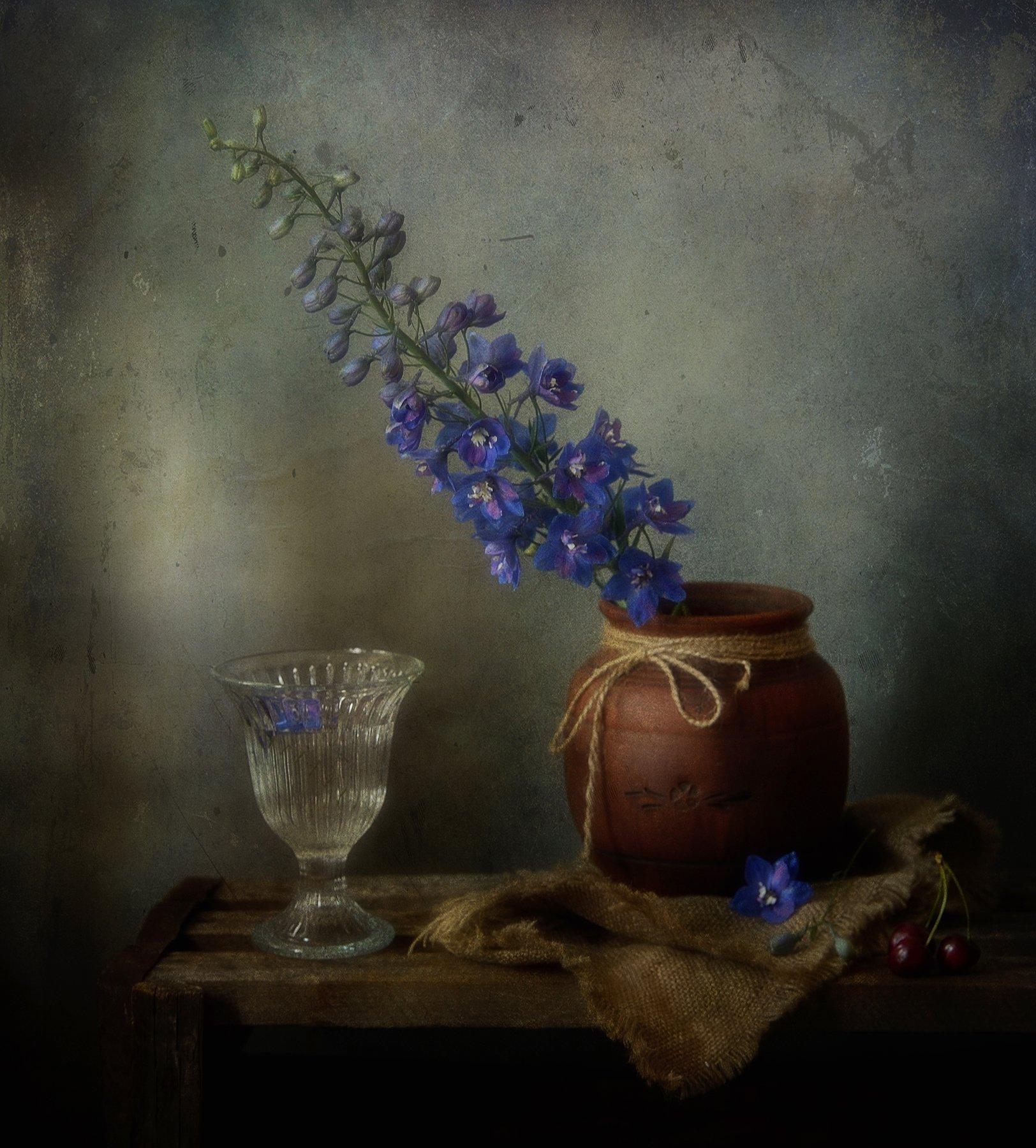 натюрморт,дельфиниум,цветы, Наталия К
