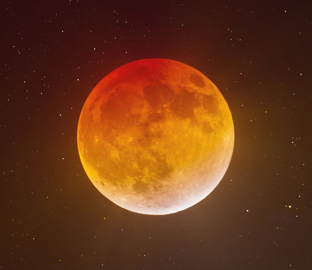 total, moon, eclipse, sky, star, sun, Konstantin Mironov
