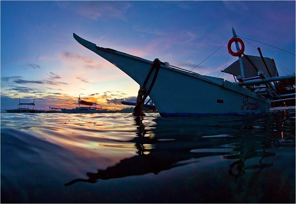 филиппины, панглао, лодки, вода, закат, Сергей Гаспарян