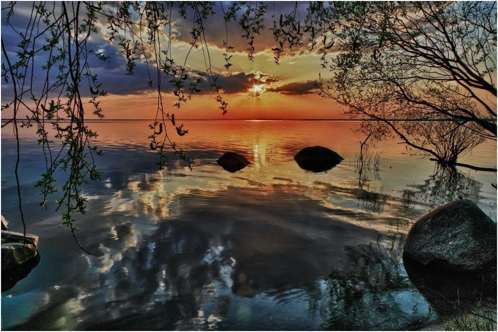 чудское, озеро, закат, hdr, Sergey Navetny