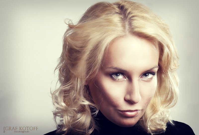 лицо, глаза, волосы, блондинка, образ, взгляд, Yagor