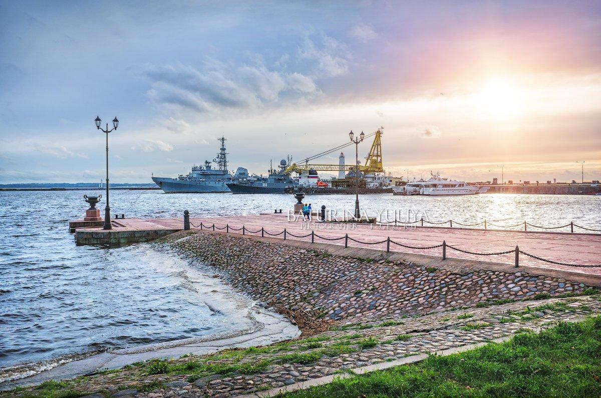 кронштадт, причал, корабль, финский залив, Юлия Батурина