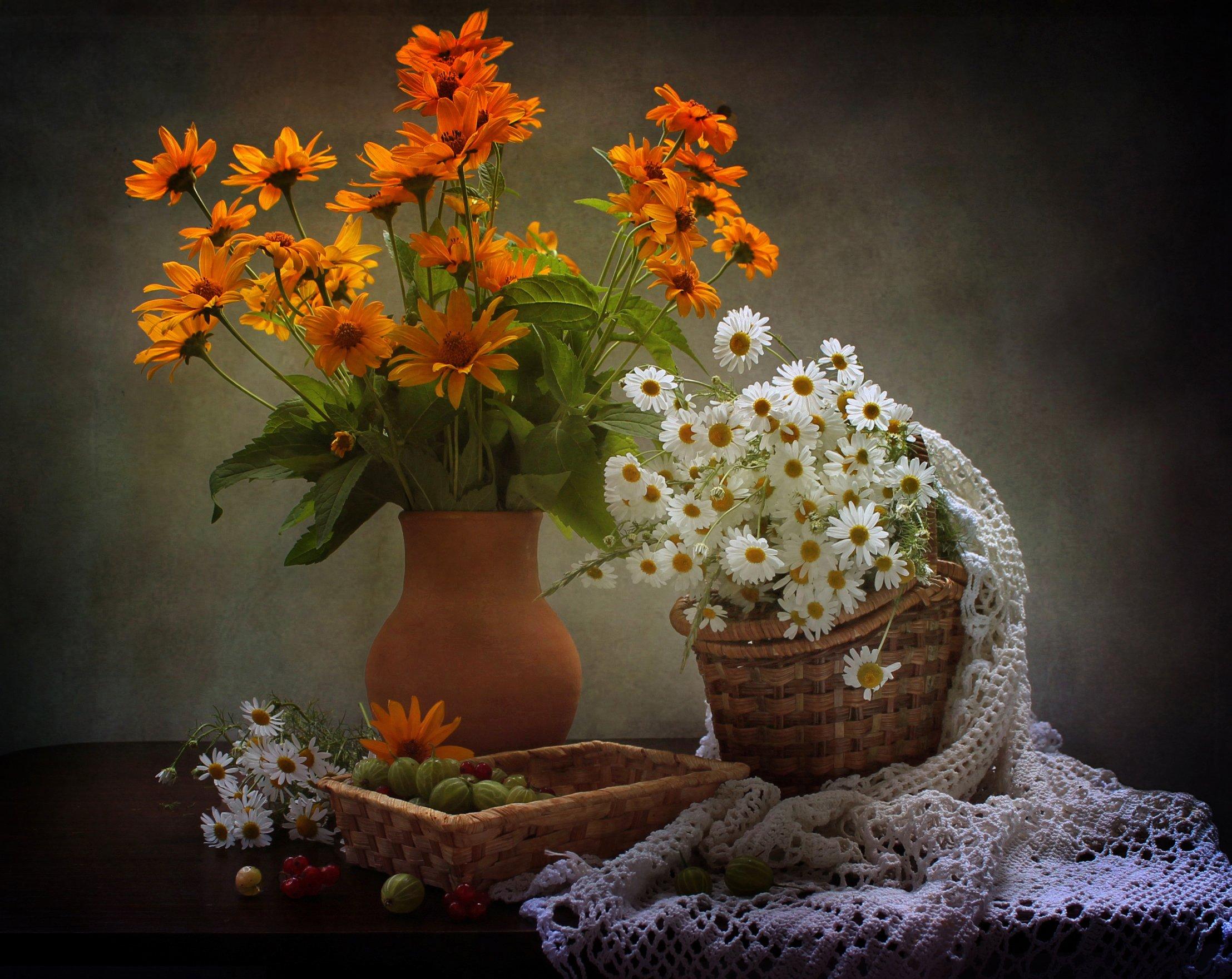 натюрморт, лето, цветы, ромашки, Ковалева Светлана