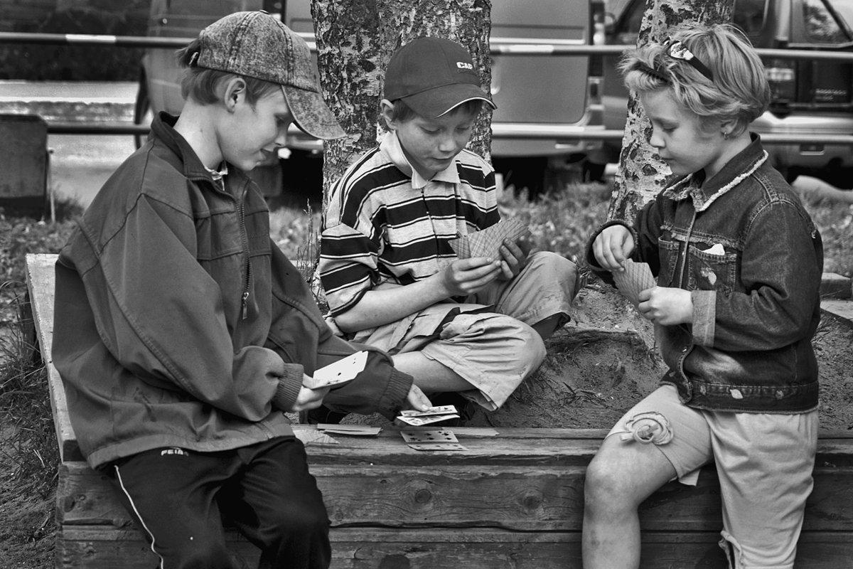 дети, улица, двор, апатиты, игра, Николай Смоляк
