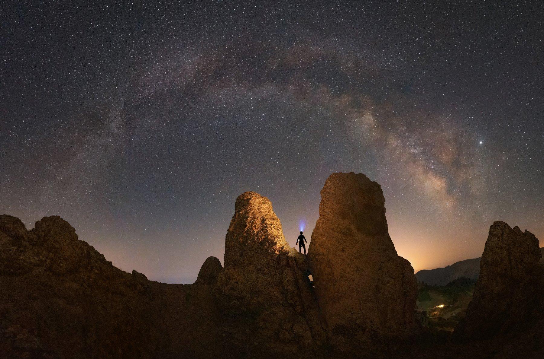 nightscape milkyway panorama, Mirsadeghi Pedram
