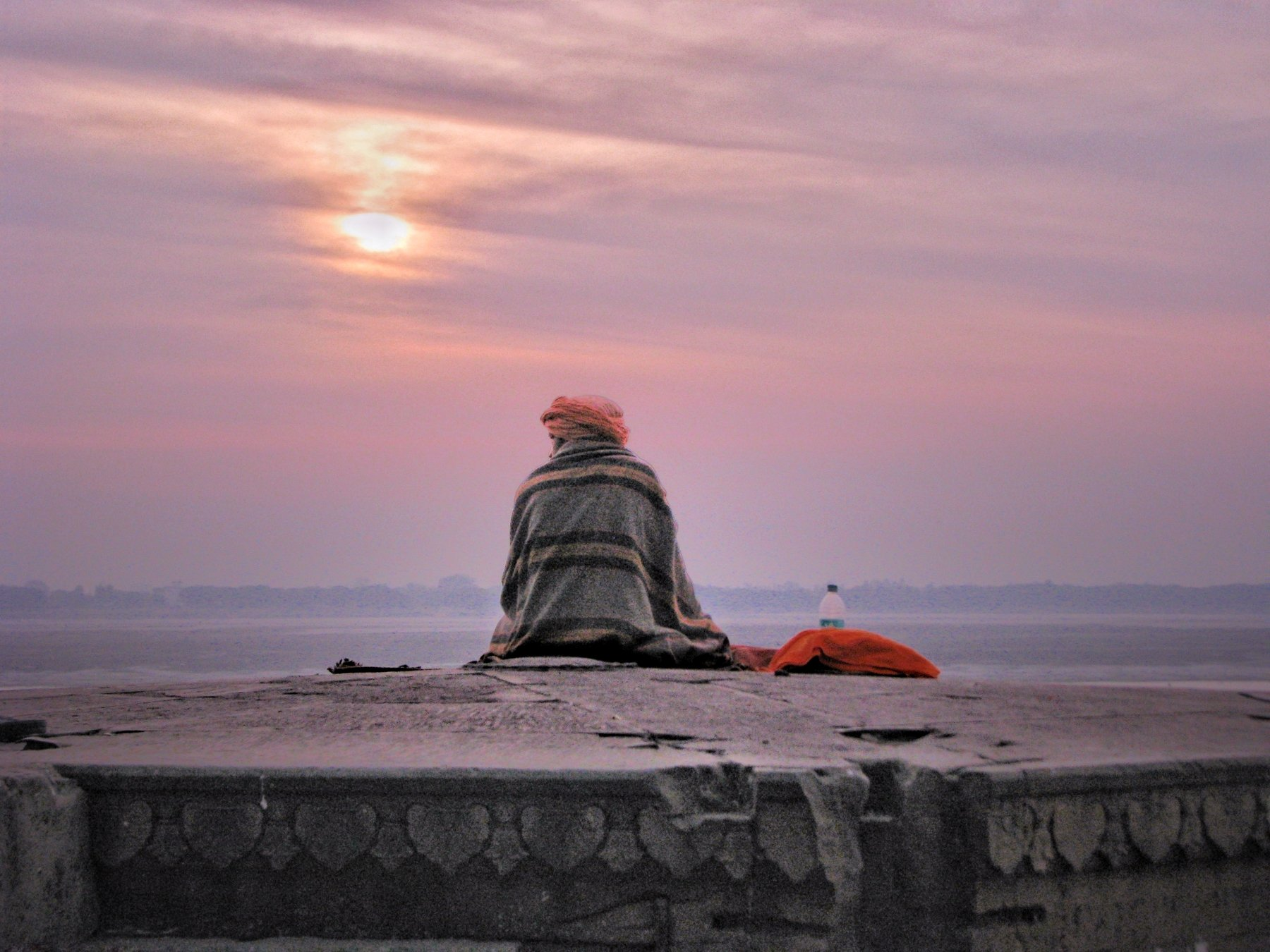 Varanasi,Kashi,Banaras,holy city,sunrise,sun,man,young monk, people, Dhiraj Goswami, GOSWAMI DHIRAJ