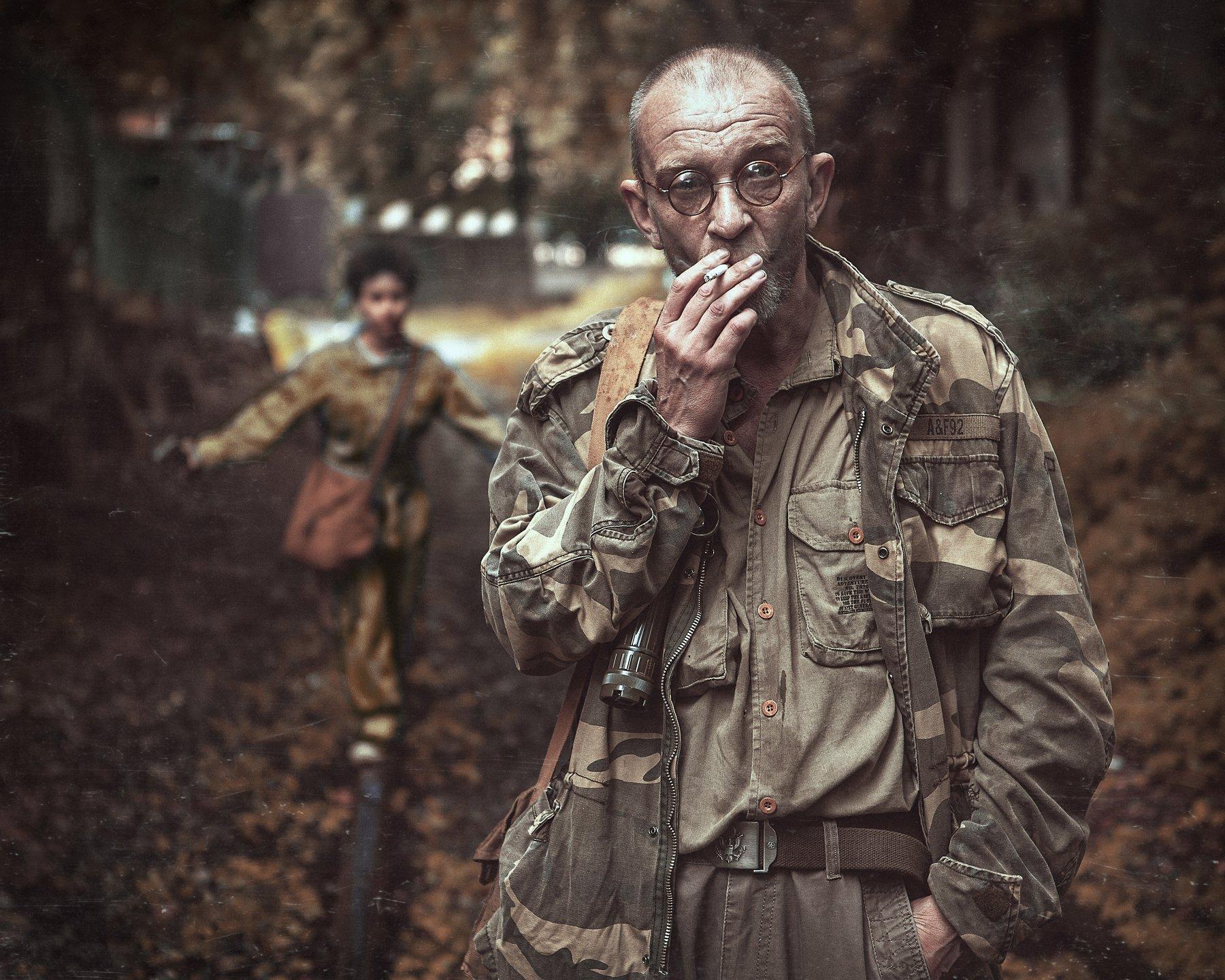 сталкер, дождь, зона, Шипов Олег