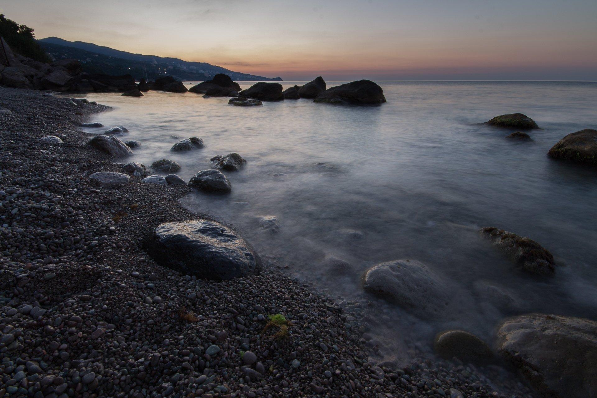 алексей платонов ,море, алупка, рассвет,камни, Платонов Алексей