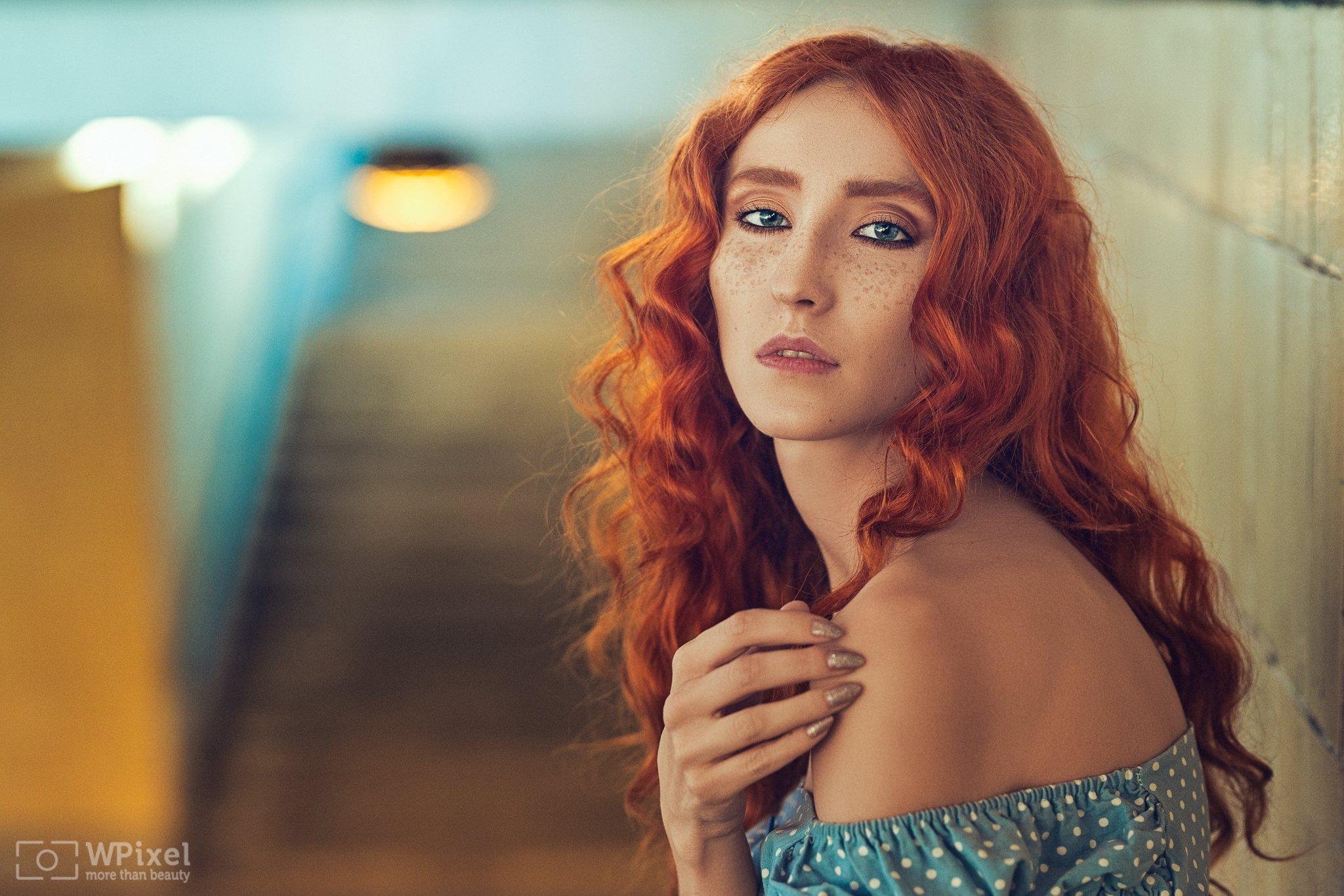portrait women eyes redhair, Wojtek Polaczkiewicz