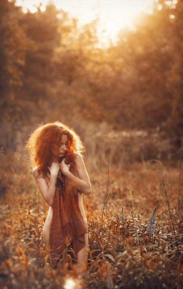 девушка, портрет, солнце, свет, Павел Рыженков