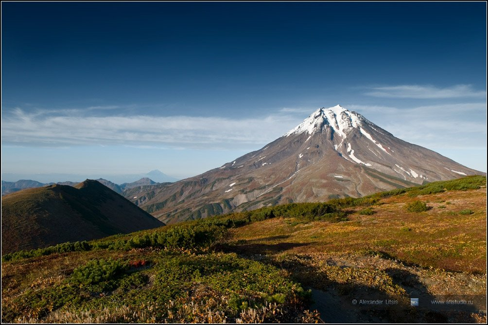 горы, вулкан, вилючинский, вершина, камчатка, Александр Лицис