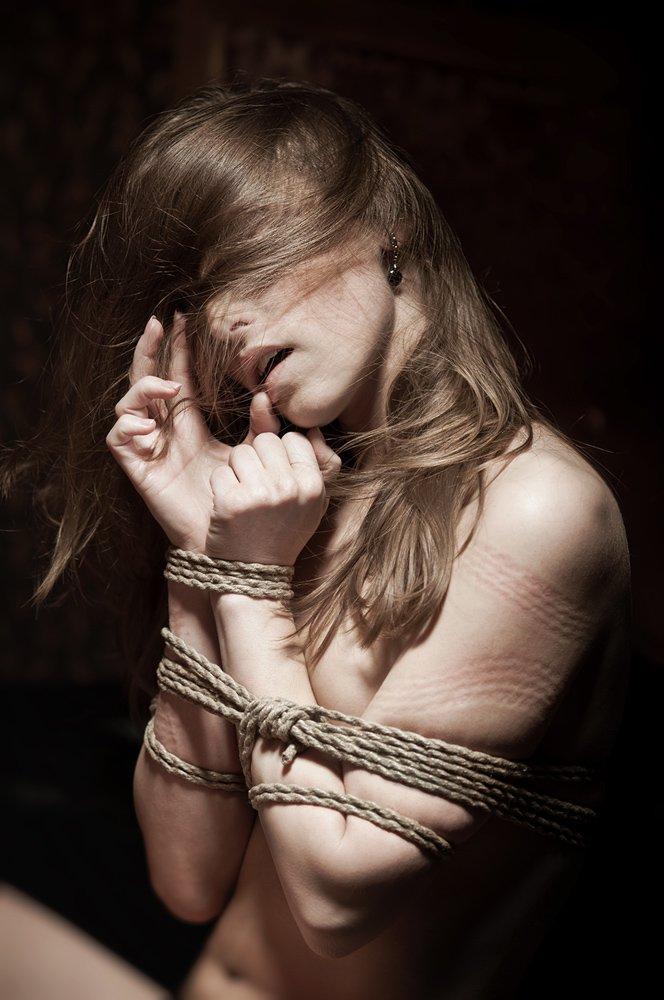 эмоциональный портрет, девушка, шибари, веревка, Павел Рыженков