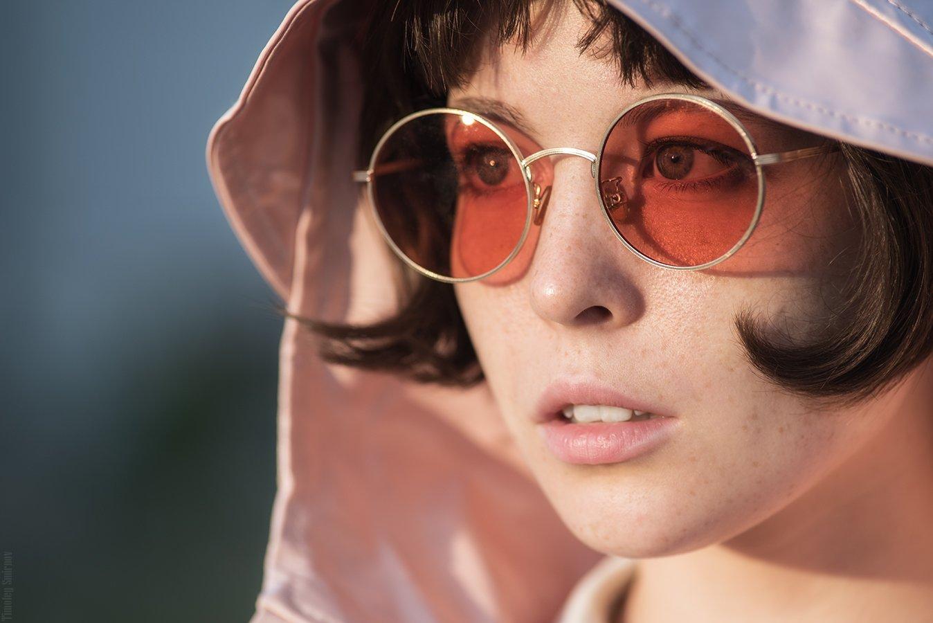 девушка, портрет, милая, cute, girl, portrait, очки, glasses, Тимофей Смирнов